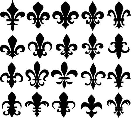 lis: fleur de lys shield symbol Illustration