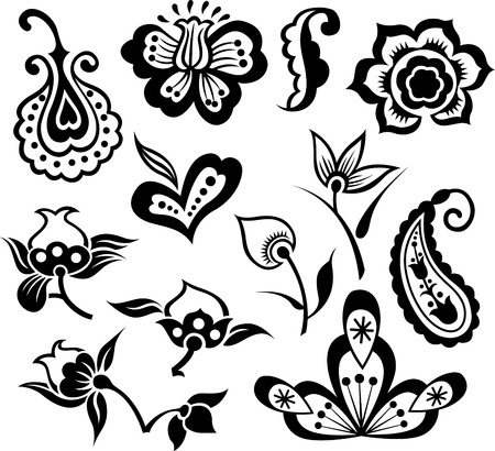 flower set illustration Vector