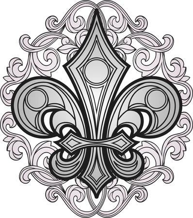 new orleans: fleur de lys shield