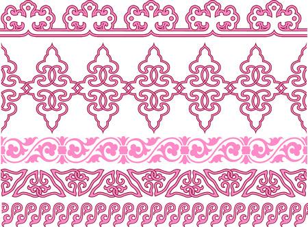 ribetes: patr�n de antig�edades repetido de espiral  Vectores