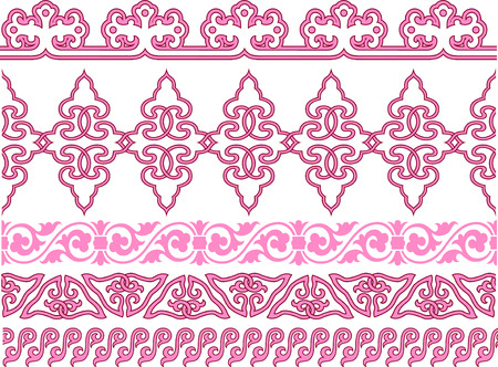 spiral repeated antique pattern Vector