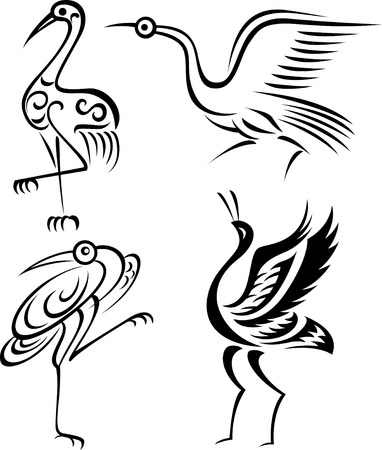 tribalism: bird illustration