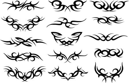 tribals: tattoo symbol design Illustration