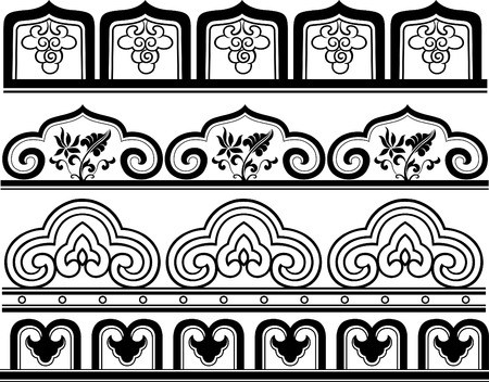 swatch book: floral border pattern Illustration