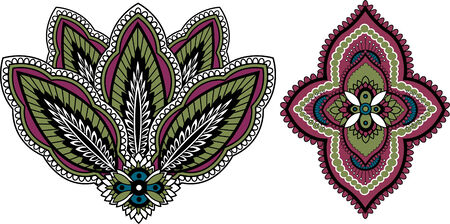 indian paisley design  Vector