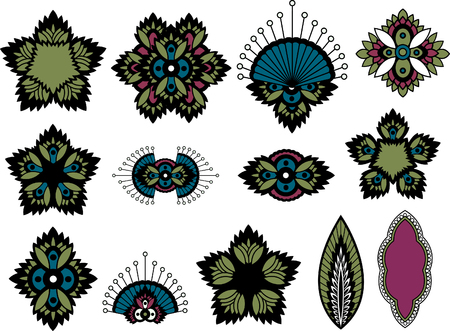 indian paisley design  Vector
