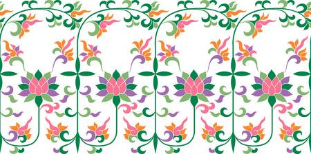 Scroll Floral Pattern 向量圖像
