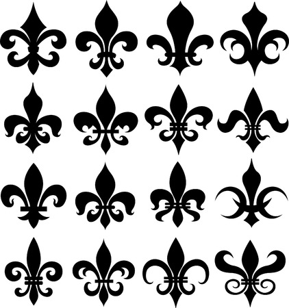fleur de lys shield design Vector