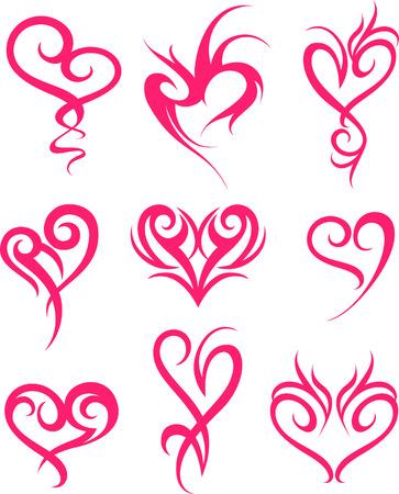 tatouage: conception de symbole pour le tatouage coeur