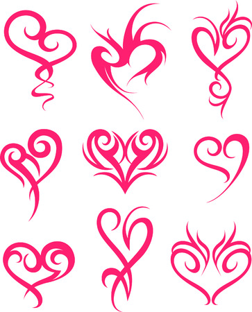 heart tattoo symbol design Vector