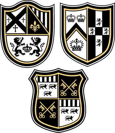 shield logo: Heraldic emblem badge shield