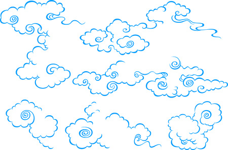 art japonais: illustration de nuages