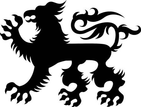 Heraldic griffin design Vector