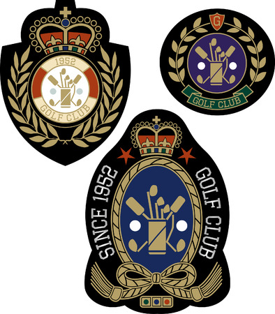 classic royal emblem badge shield Vector