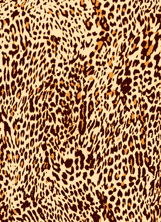 a print: animal leopard skin texture print background  Illustration