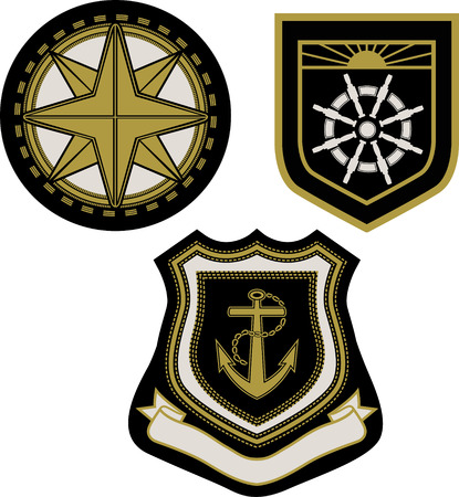Vector illustration of classic sail badge Vector