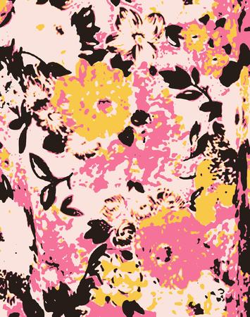 romantic fancy flower wallpaper Vector