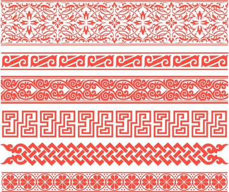 traditional border design Vector