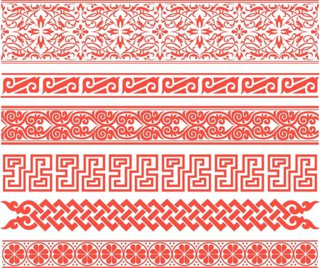 traditional border design Vector