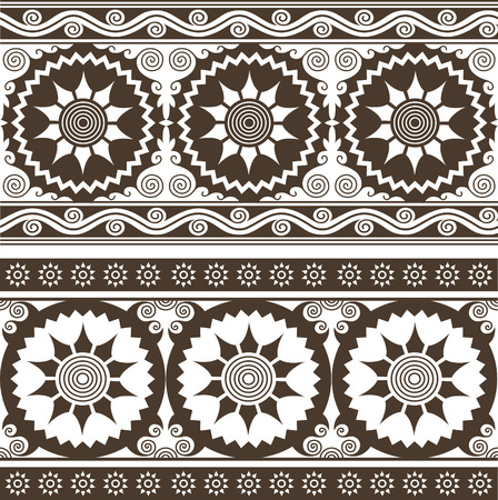 repeated circular floral background pattern Vector