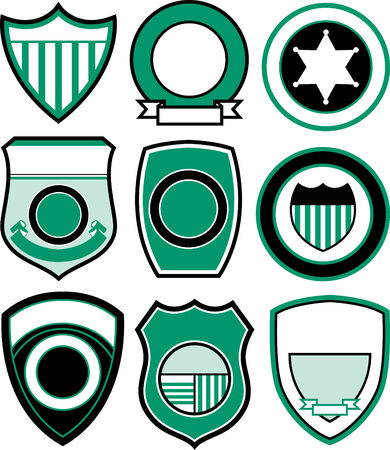 shield logo: emblem badge shield design