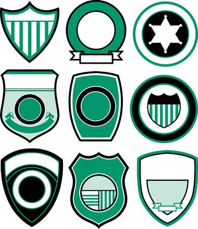 progettazione di emblema distintivo scudo