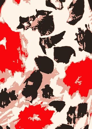 flower grunge distressed background Vector