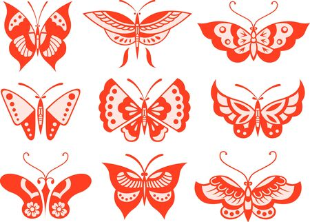 butterfly illustration Stock Vector - 9121153