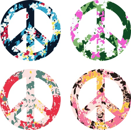 flower peace symbol sign Vector