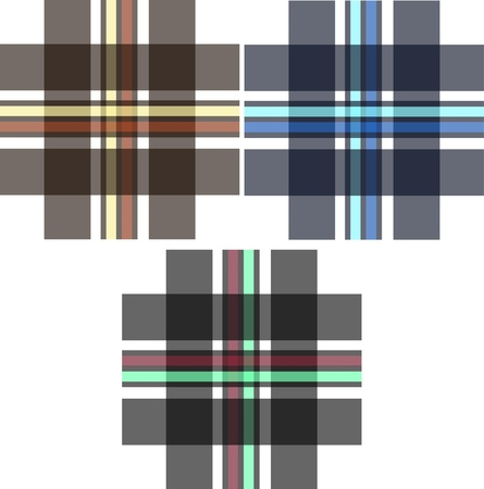 fashion fabric plaid check textile background Vector
