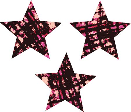 distressed texture star Stock Vector - 9165384