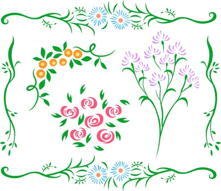 decorative flower design Vector