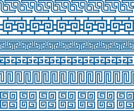 tracery: classic decorative border element Illustration