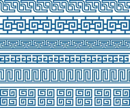 foliate: classic decorative border element Illustration