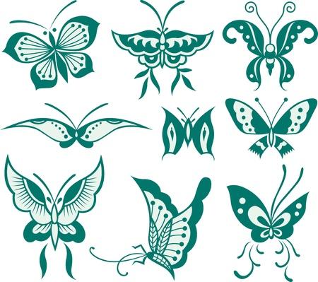 butterfly illustration Stock Vector - 9277252