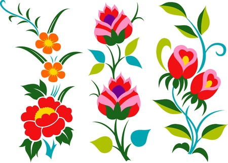 decorative flower cartoon element design Vector