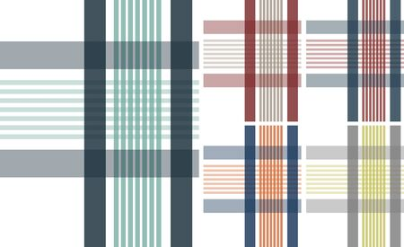 plaid check fabric textile background Vector