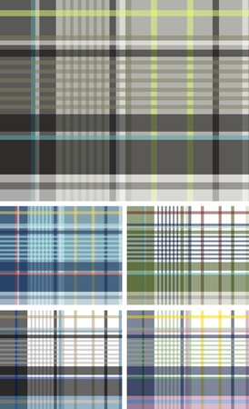 plaid check fabric textile background Stock Vector - 9369420