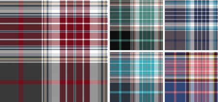 plaid check fabric textile background Stock Vector - 9369422