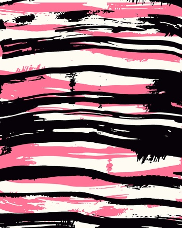 rosa negra: Fondo de tinta Rosa de frontera de pincel Vectores