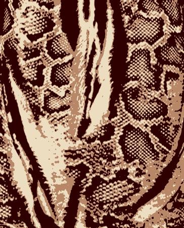 abstracte dierenhuid textuur als achtergrond Vector Illustratie