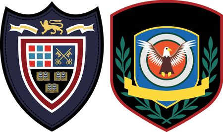 emblem patch design  Vector