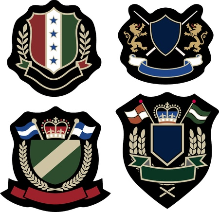 royal laurel emblem badge Vector