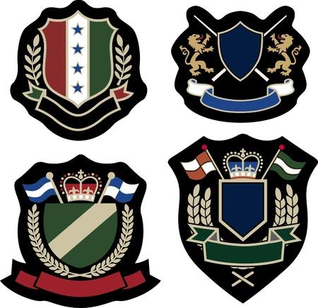 royal laurel emblem badge Vector