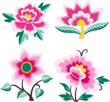 Conjunto de flores elegante creativa Foto de archivo - 9594472
