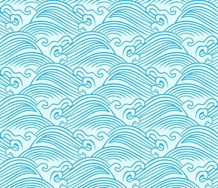seamless wave pattern design  Vector