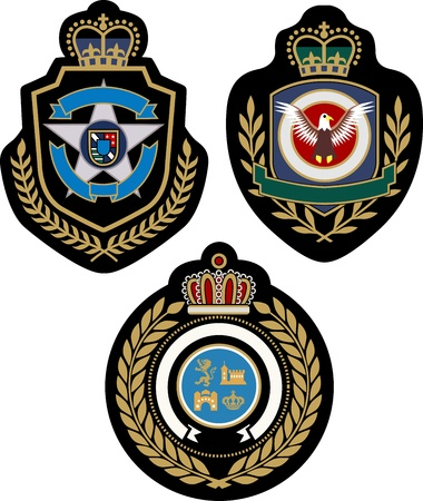 royal crown emblem badge Vector