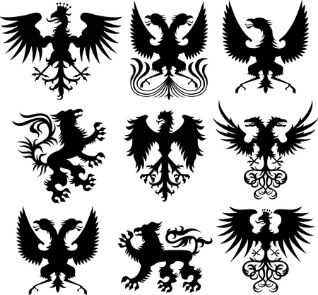 eagle and griffin collection Vector