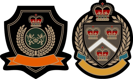 classic royal wealth emblem Vector