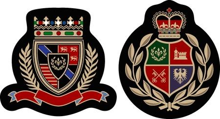 Distintivo di emblema classico college Vettoriali